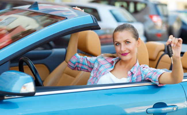Young Driver Car Rental, Girl under 25