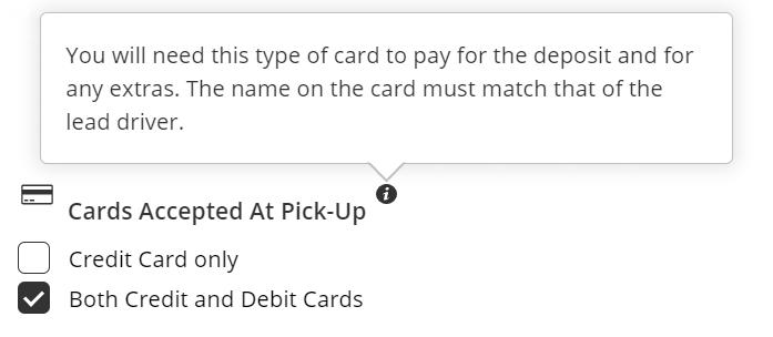 debit card filter - Rental24H.com