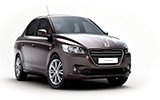 DOLLAR Car rental Herzliya Fullsize car - Peugeot 301