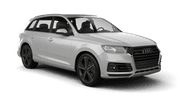 WHITE AND BLACK Car rental Dubai - Jebel Ali Free Zone Suv car - Audi Q7
