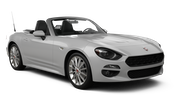 SIXT Car rental Porto - Downtown Convertible car - Fiat 124 Spider
