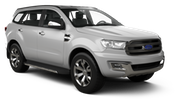 DOLLAR Car rental Durban - Airport - King Shaka Suv car - Ford Everest