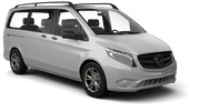 SIXT Car rental Vasteras Van car - Mercedes Vito Traveliner