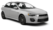 DOLLAR Car rental Dubai - Jebel Ali Free Zone Economy car - Mitsubishi Lancer
