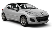 THRIFTY Car rental Orchard Area - Hotel Jen Tanglin - Hotel Delivery Economy car - Peugeot 206