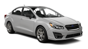 BUDGET Car rental St. Lucia - La Toc Beach - Sandals Regency Standard car - Subaru Impreza