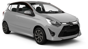 FIREFLY Car rental Durban - Airport - King Shaka Mini car - Toyota Agya