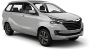 TEMPEST Car rental Durban - Airport - King Shaka Van car - Toyota Avanza