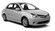 FIT Car rental Salta Standard car - Toyota Etios