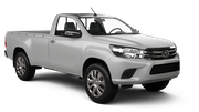 AVIS Car rental Belize Downtown Suv car - Toyota Hilux