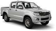 BIDVEST Car rental Durban - Airport - King Shaka Suv car - Toyota Hilux Double